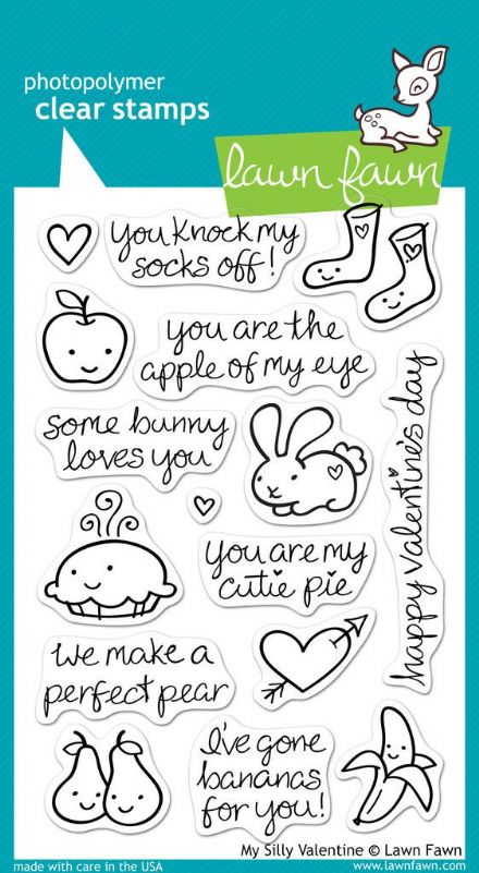 LF0332 ~ MY SILLY VALENTINE ~ CLEAR STAMPS BY LAWN FAWN